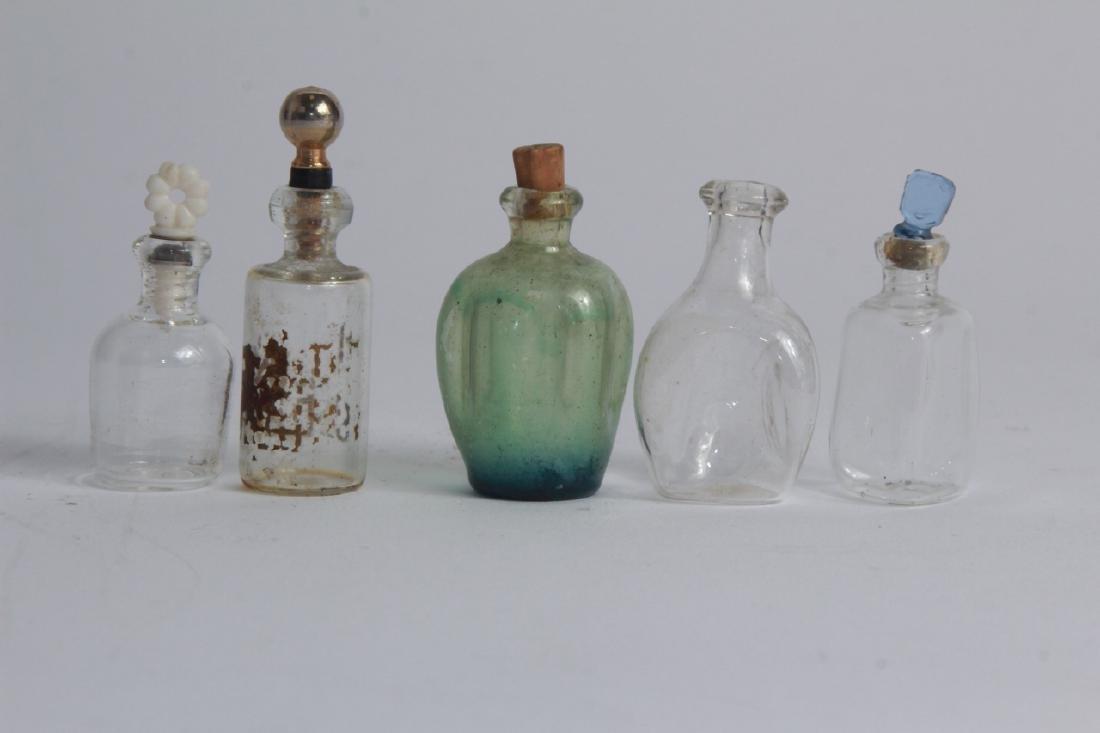 Antique Miniature Art Glass Perfume Bottles - 3