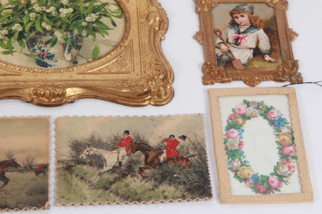 Antique Dollhouse Artwork Including Ormolu Frames - 3