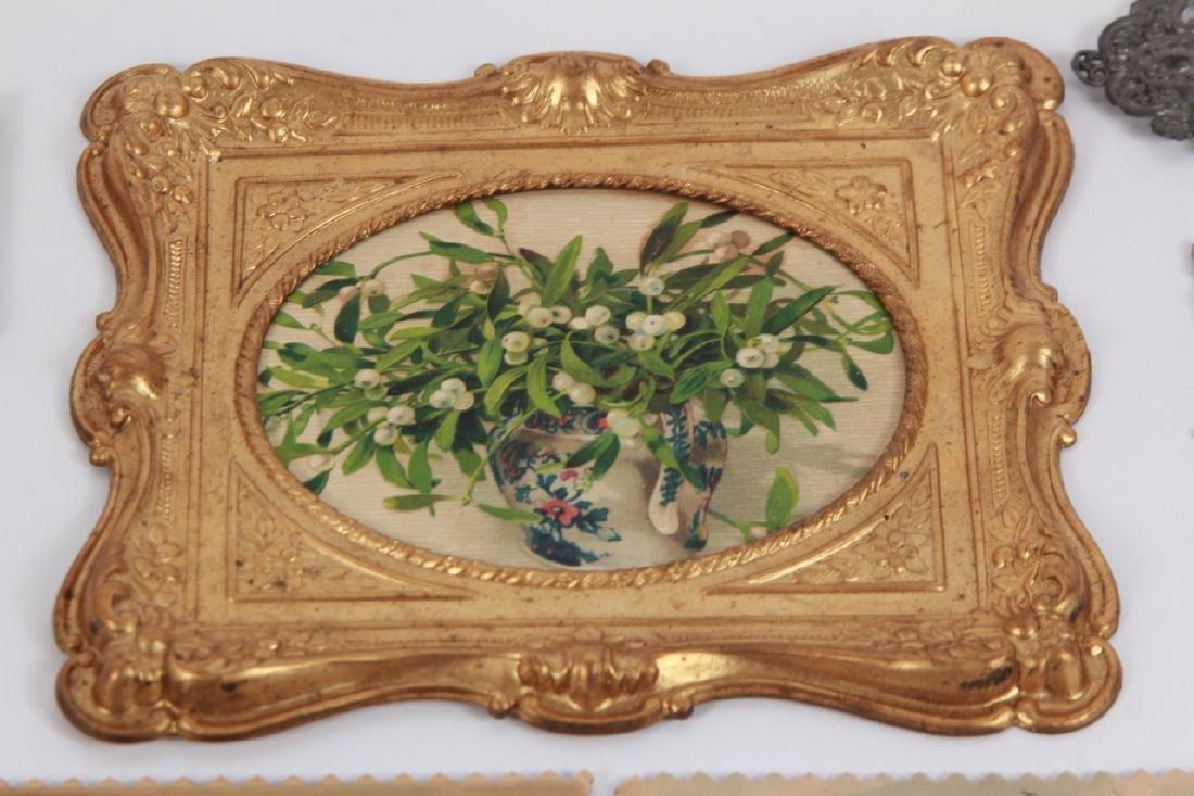 Antique Dollhouse Artwork Including Ormolu Frames - 4