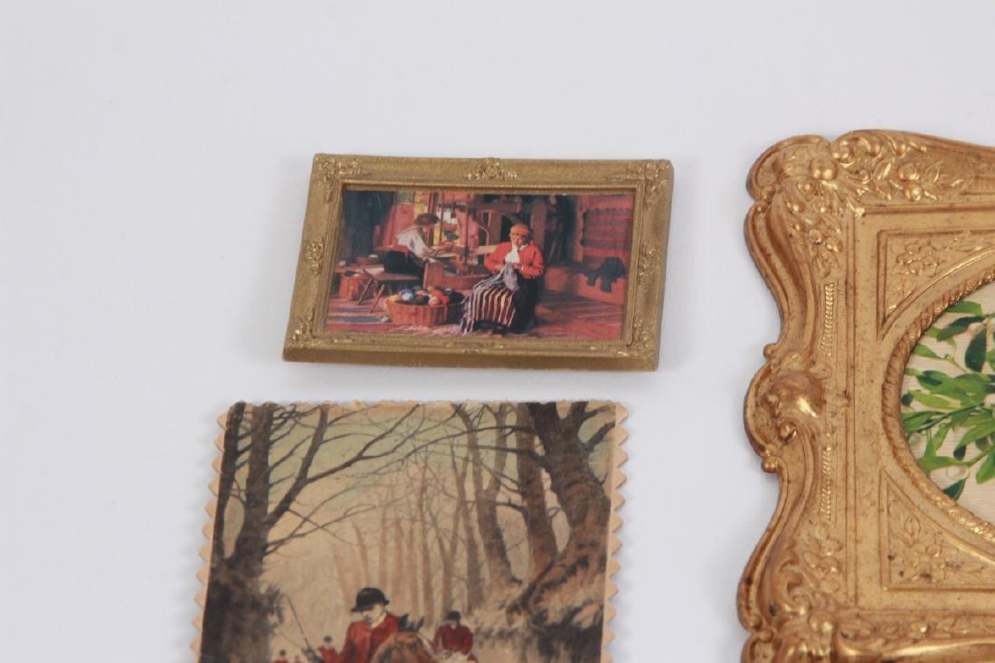 Antique Dollhouse Artwork Including Ormolu Frames - 5