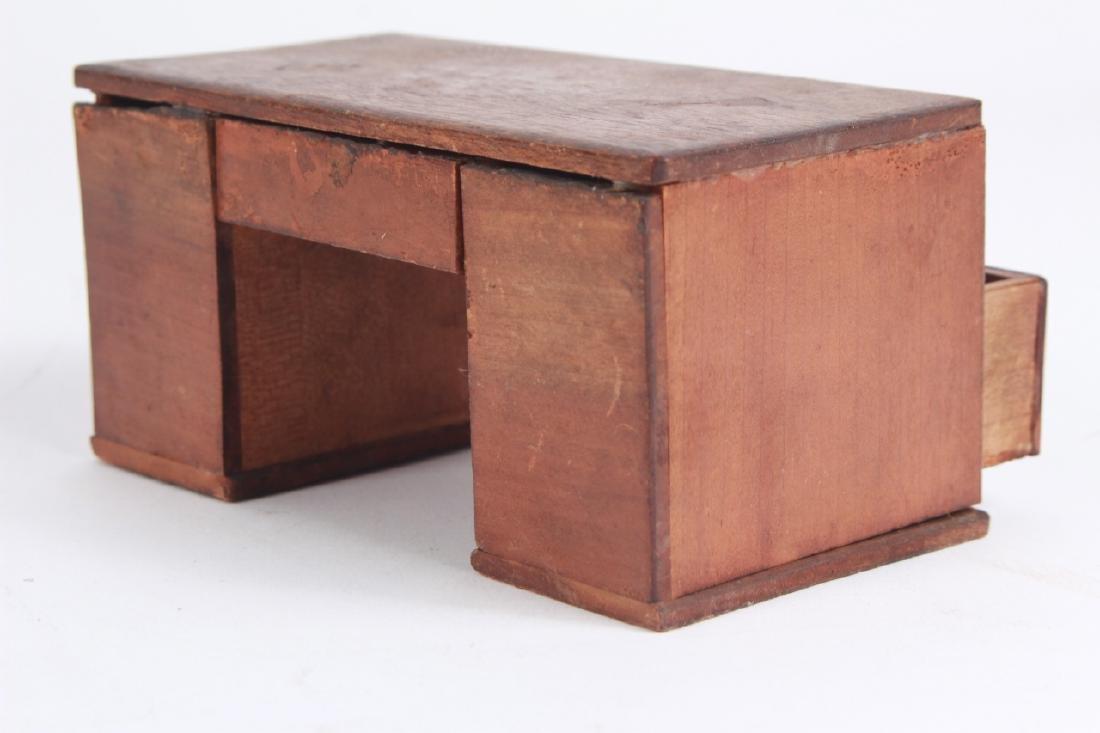 Antique Dollhouse Furniture & Bear Skin Rug - 4