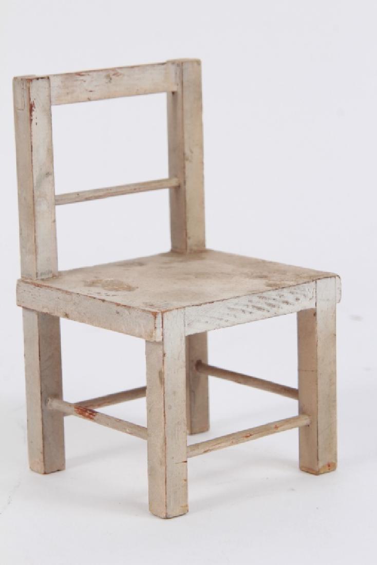 Antique Dollhouse Furniture & Bear Skin Rug - 5