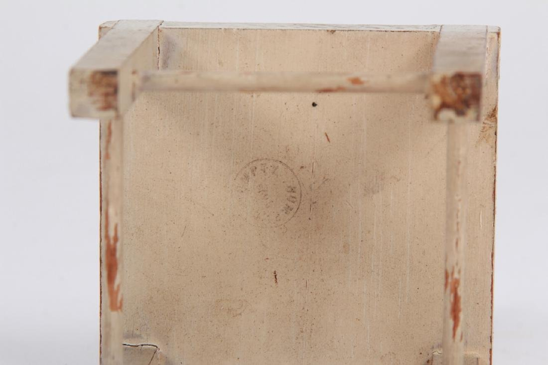 Antique Dollhouse Furniture & Bear Skin Rug - 6