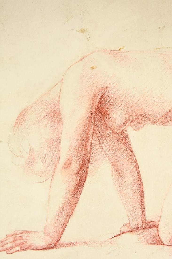Leon Kroll Sanguine on Paper Drawing Female Nude - 8