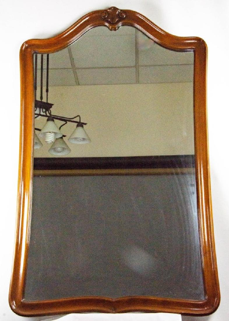 Queen Anne Style Carved Wood Frame Mirror