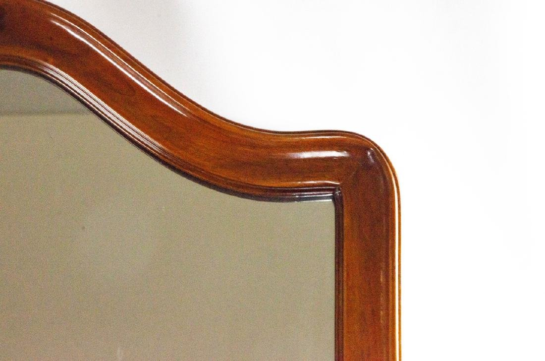 Queen Anne Style Carved Wood Frame Mirror - 2