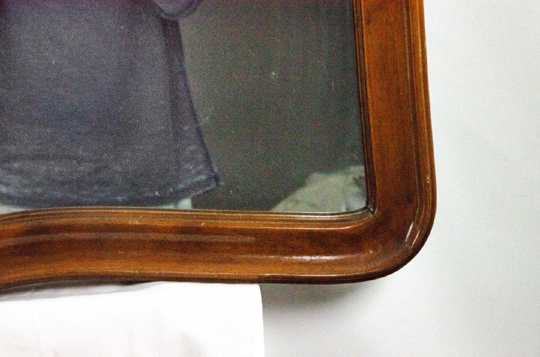 Queen Anne Style Carved Wood Frame Mirror - 3