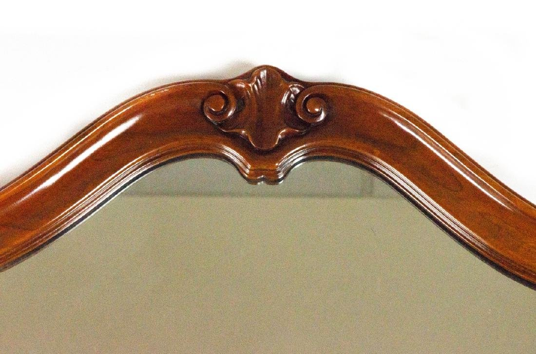 Queen Anne Style Carved Wood Frame Mirror - 6