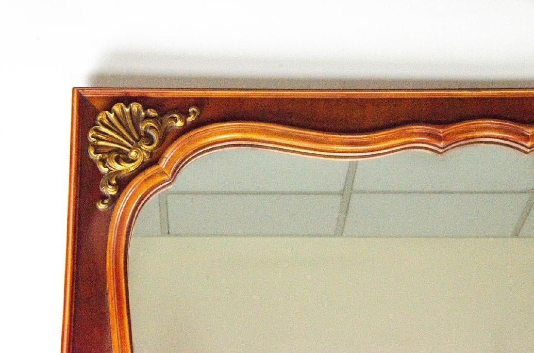 Neoclassical Style Carved Wood & Gilt Mirror - 3