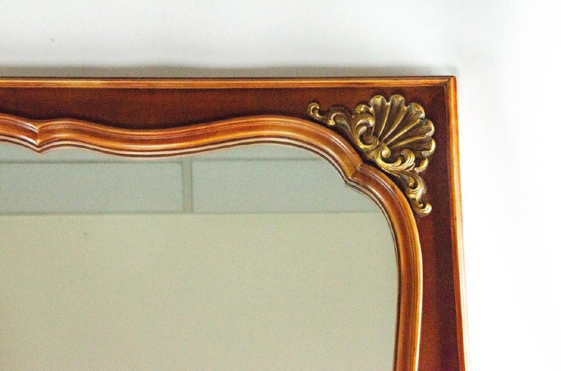 Neoclassical Style Carved Wood & Gilt Mirror - 4