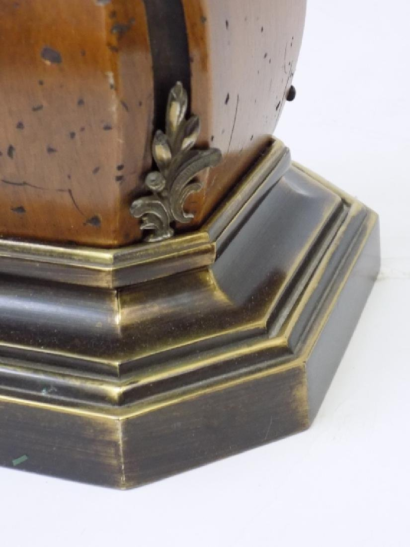 Pair of Large Baroque Style Wood + Brass Lamps - 2