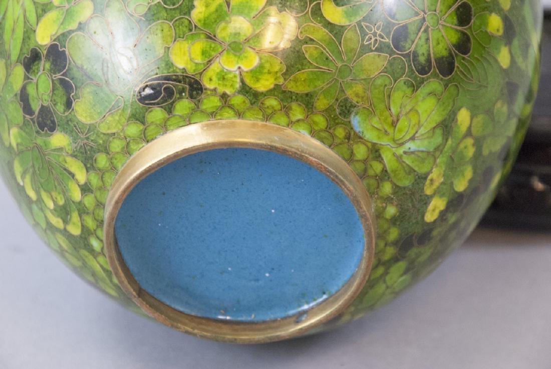 Vintage Chinese Cloisonne Ginger Jar - 3