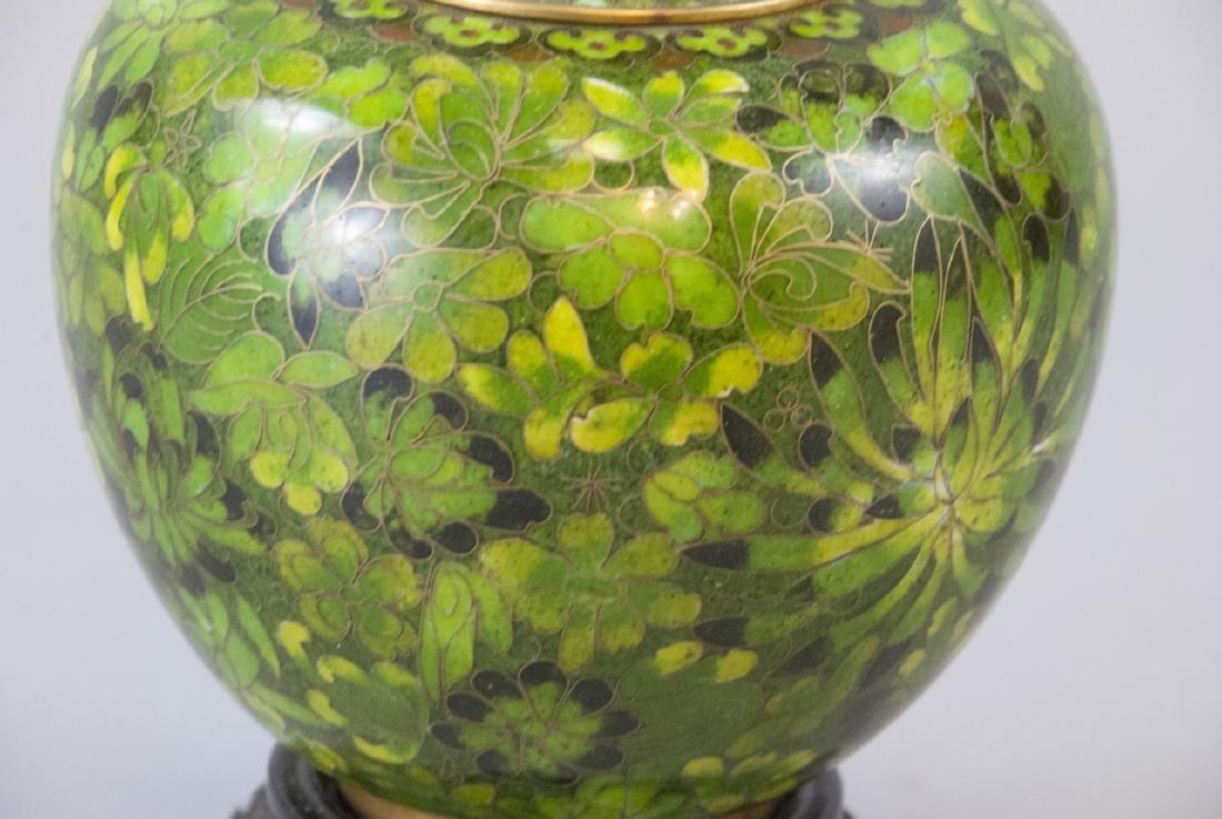 Vintage Chinese Cloisonne Ginger Jar - 5