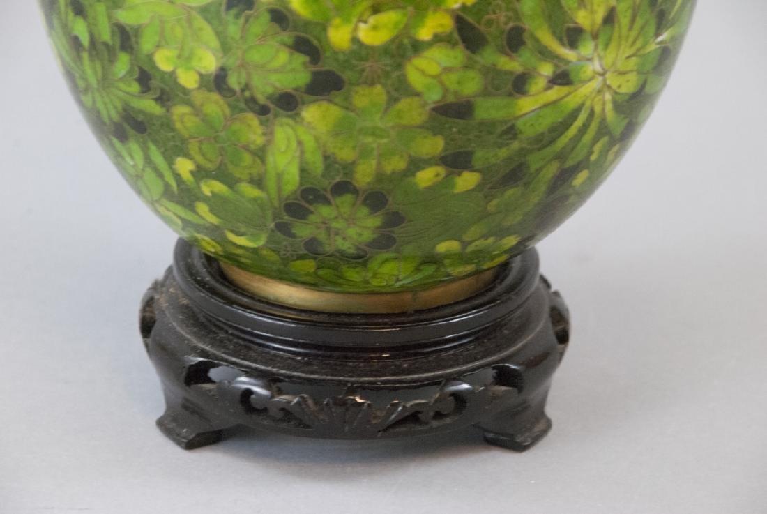 Vintage Chinese Cloisonne Ginger Jar - 6