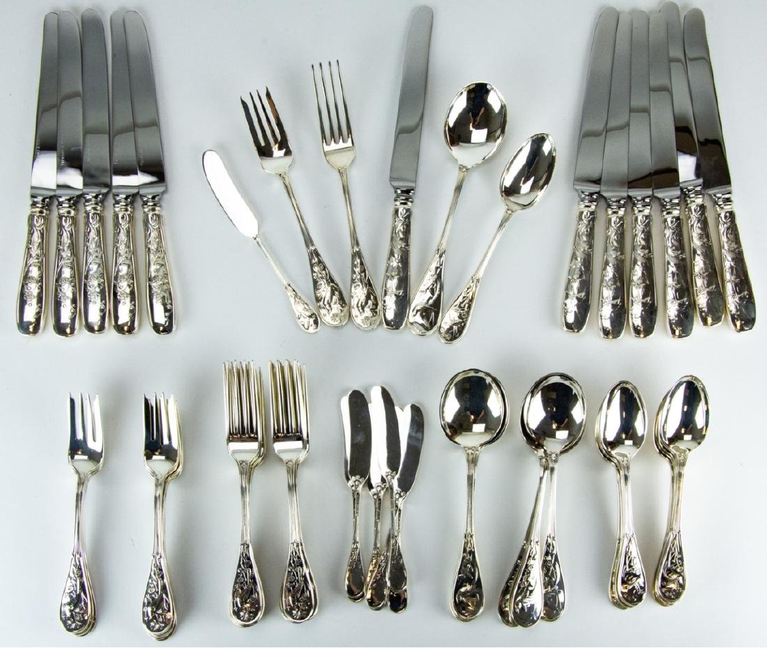 Tiffany Sterling Audubon Flatware Service for 12