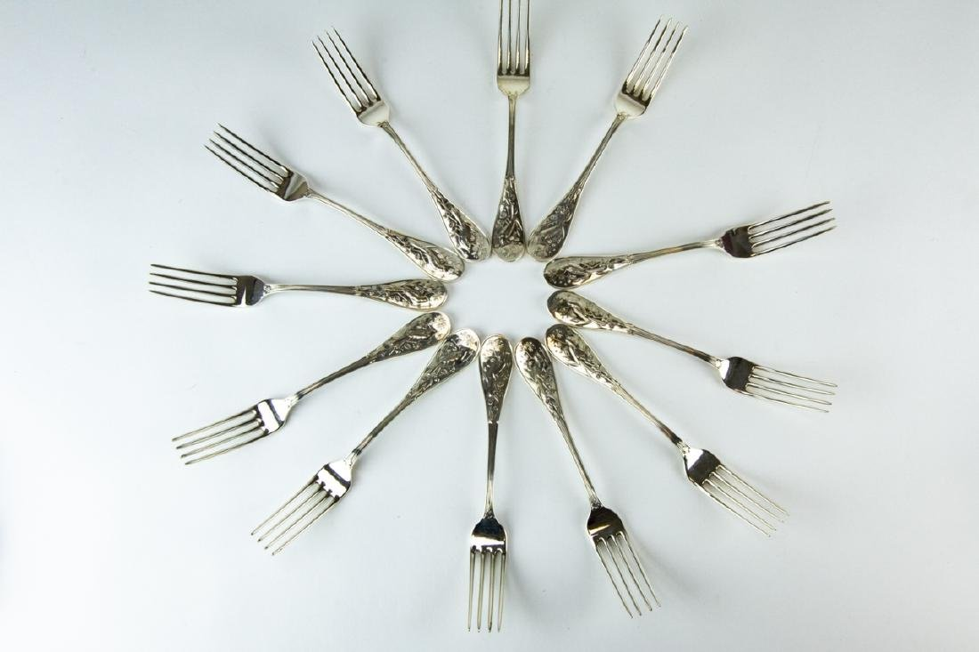 Tiffany Sterling Audubon Flatware Service for 12 - 7