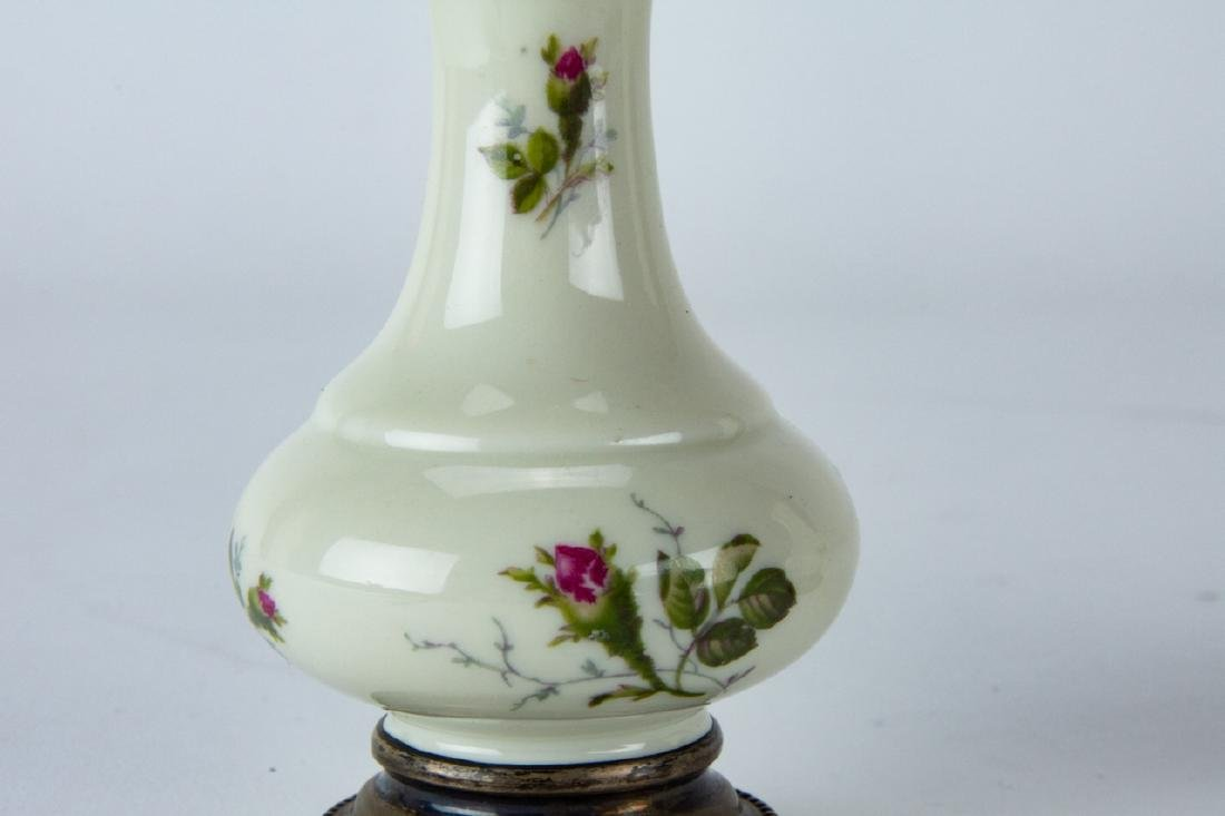 Pair Sterling Silver & Rosenthal Porcelain Shakers - 3