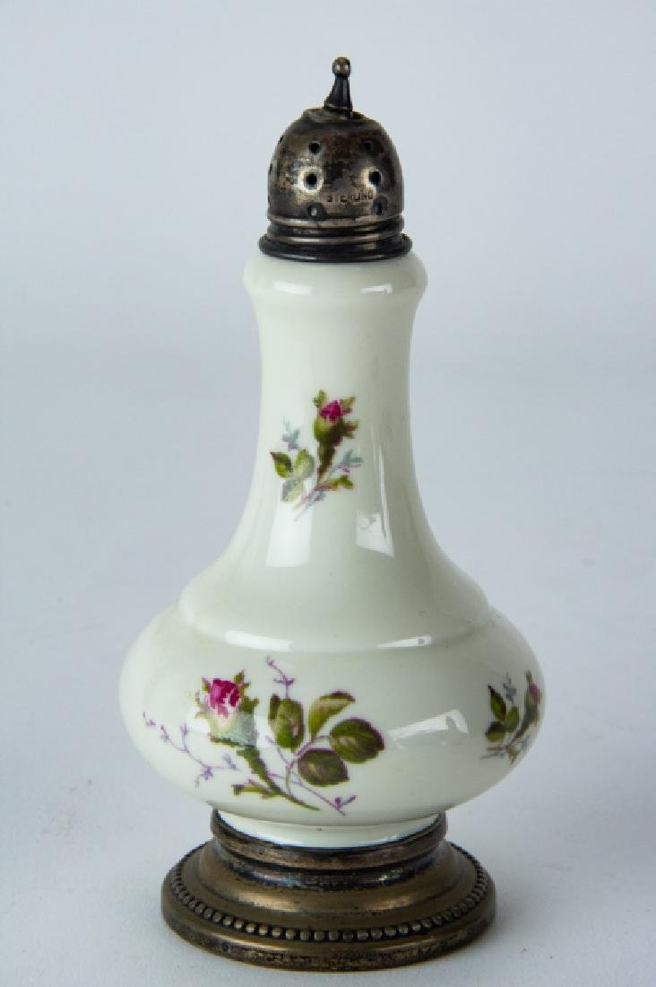 Pair Sterling Silver & Rosenthal Porcelain Shakers - 4