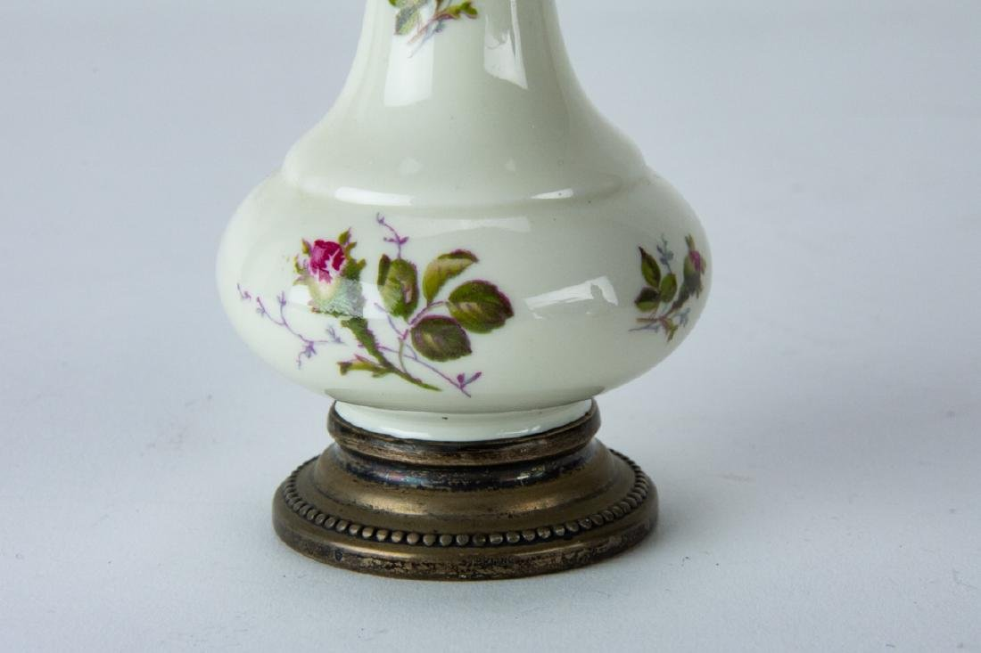 Pair Sterling Silver & Rosenthal Porcelain Shakers - 5