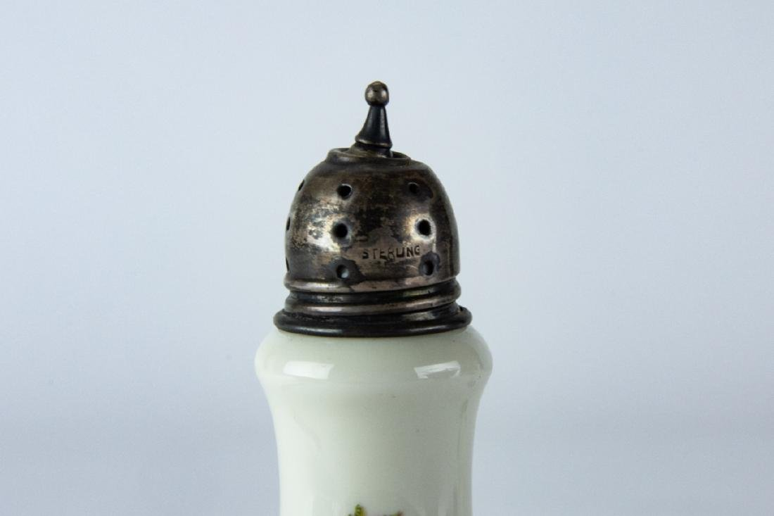 Pair Sterling Silver & Rosenthal Porcelain Shakers - 6