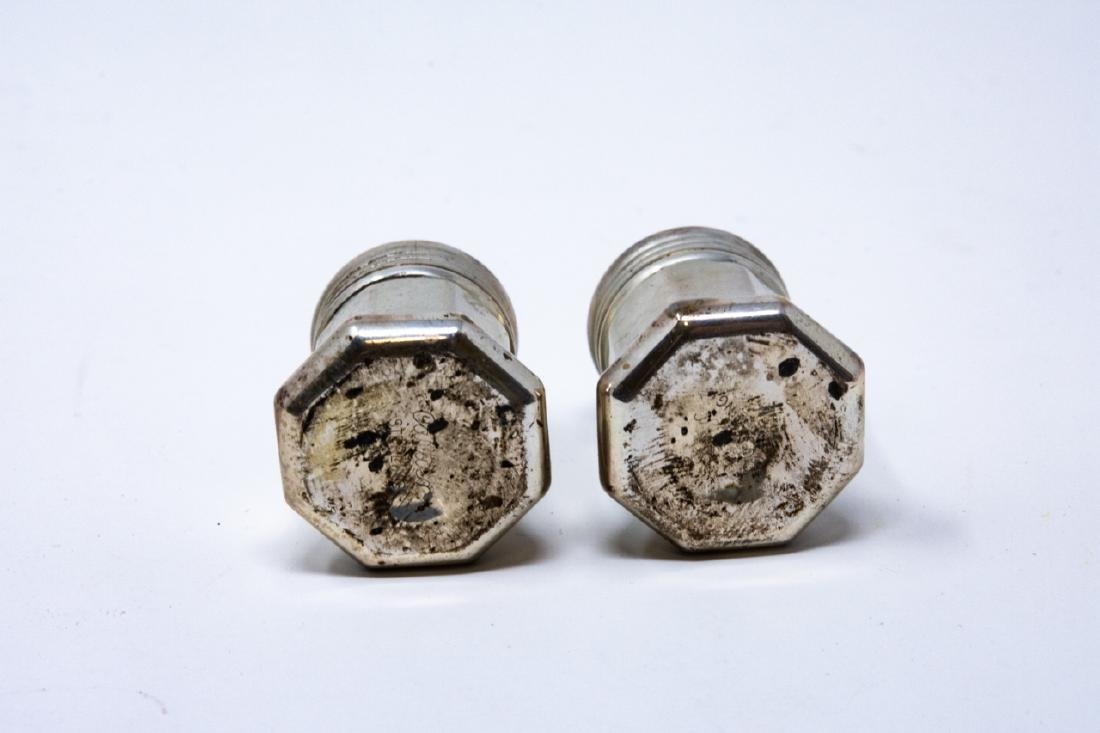 Pair Cartier Sterling Silver Salt & Pepper Shakers - 3