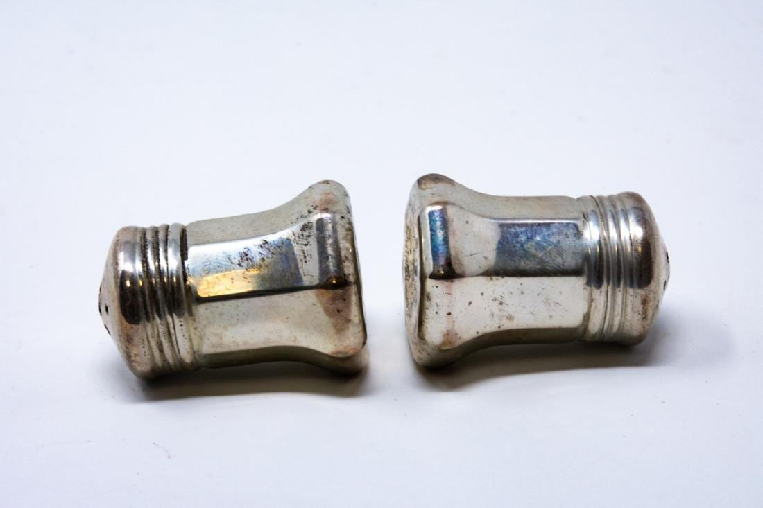 Pair Cartier Sterling Silver Salt & Pepper Shakers - 4
