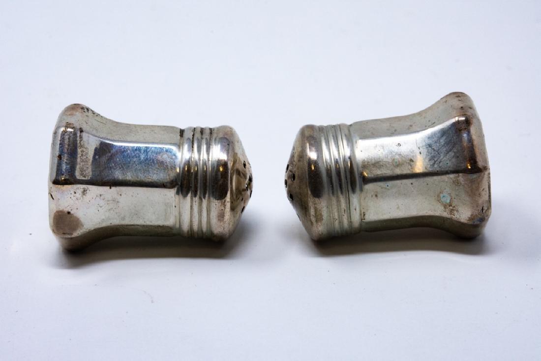 Pair Cartier Sterling Silver Salt & Pepper Shakers - 5
