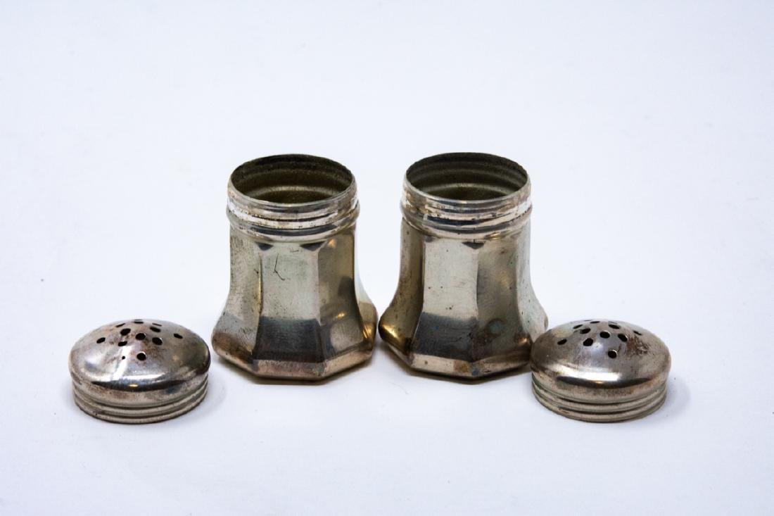 Pair Cartier Sterling Silver Salt & Pepper Shakers - 6