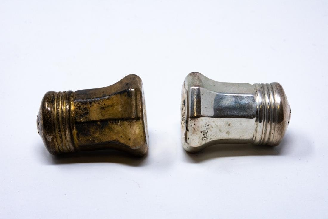 Pair Cartier Sterling Silver Salt & Pepper Shakers - 2