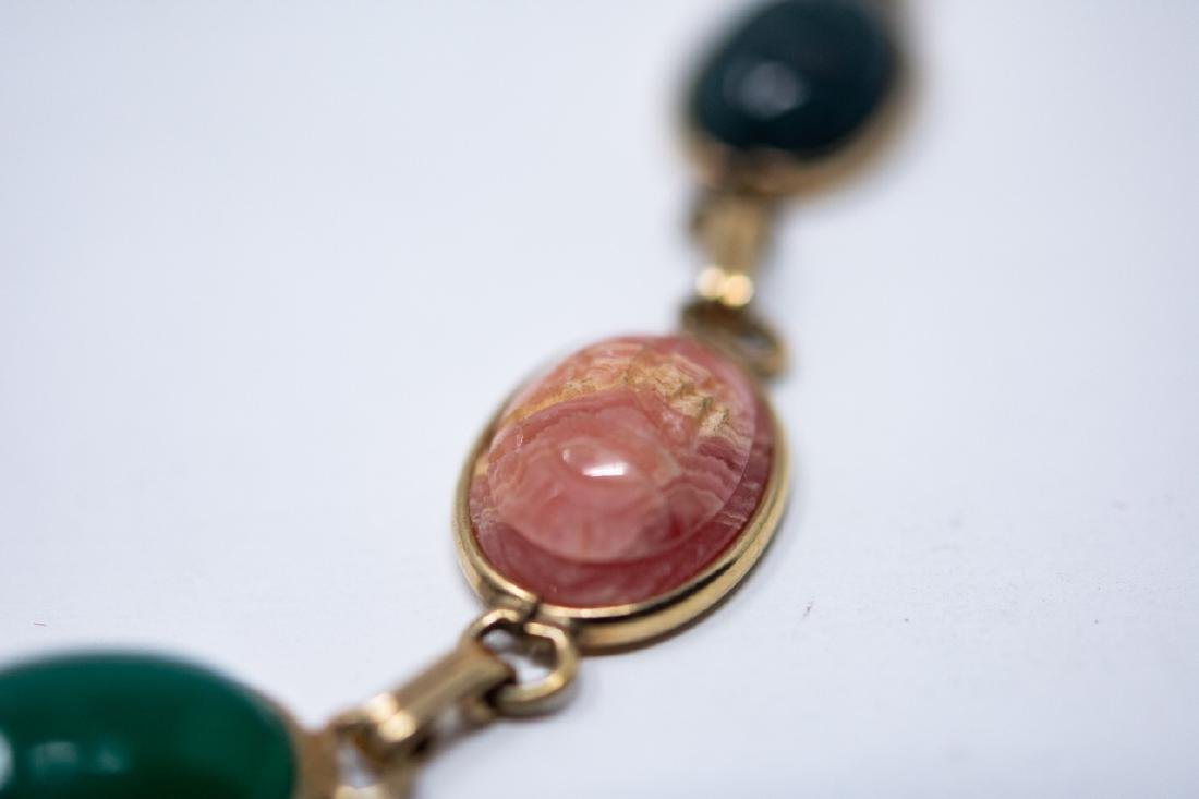 Vintage Egyptian Revival Scarab Necklace - 2