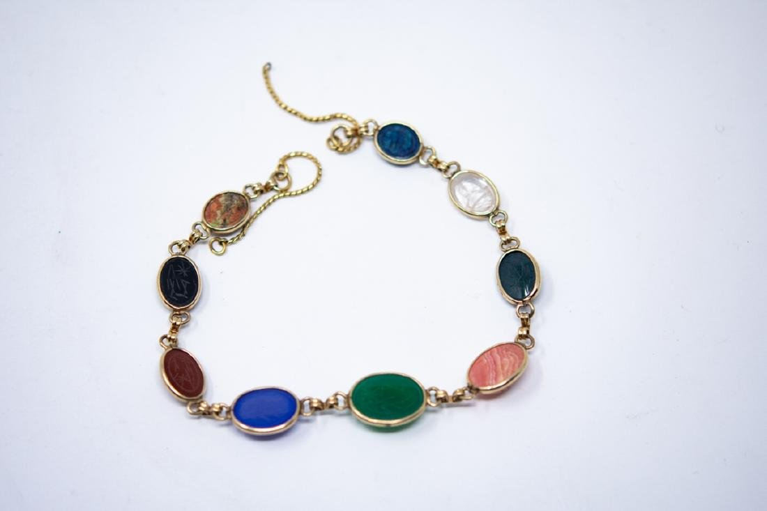 Vintage Egyptian Revival Scarab Necklace - 6