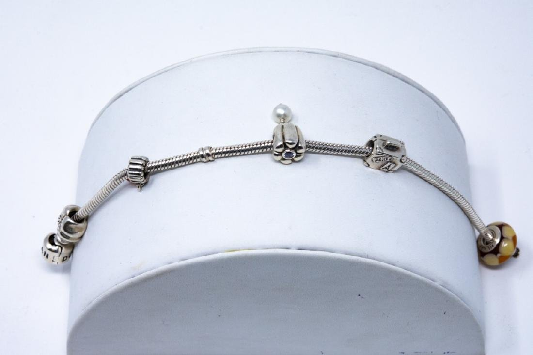 Sterling Silver Pandora Bracelet and Charms - 2