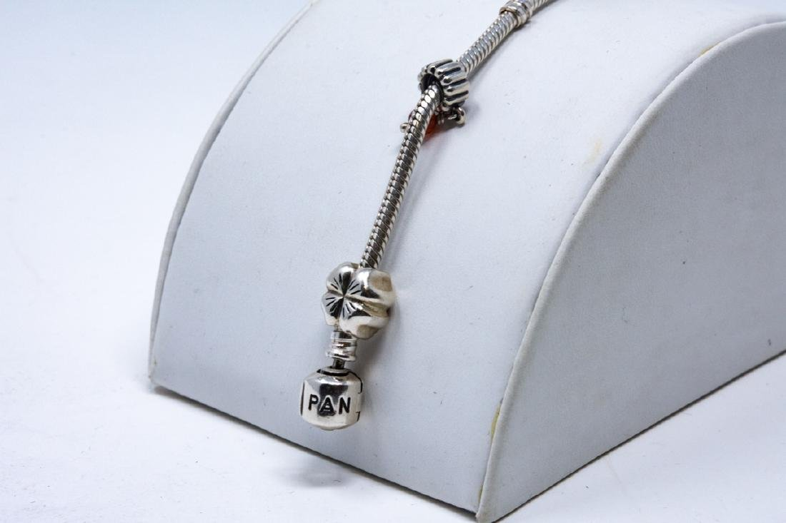 Sterling Silver Pandora Bracelet and Charms - 4