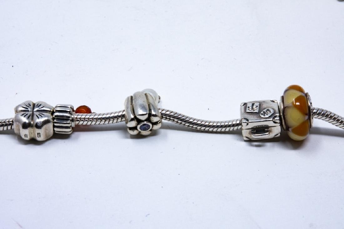 Sterling Silver Pandora Bracelet and Charms - 5