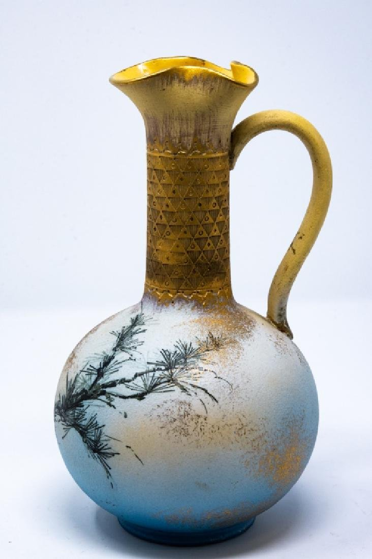 Rookwood 1886 Art Pottery Hand Painted Ewer - 4