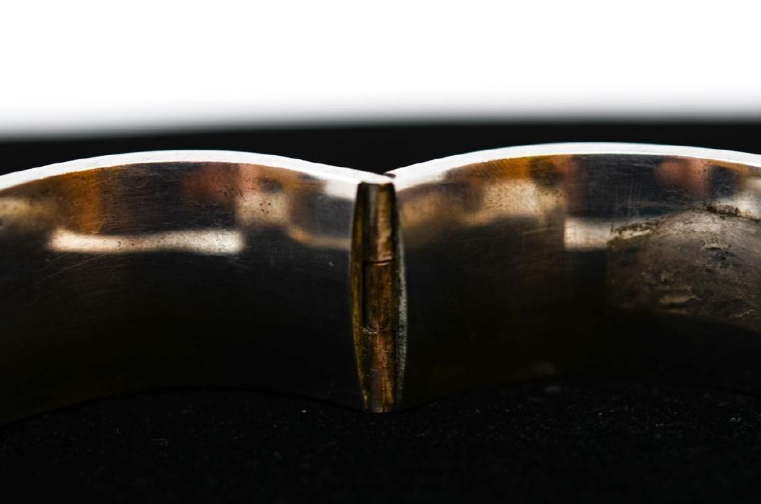 Antique Russian Niello Silver Bangle Bracelet - 4