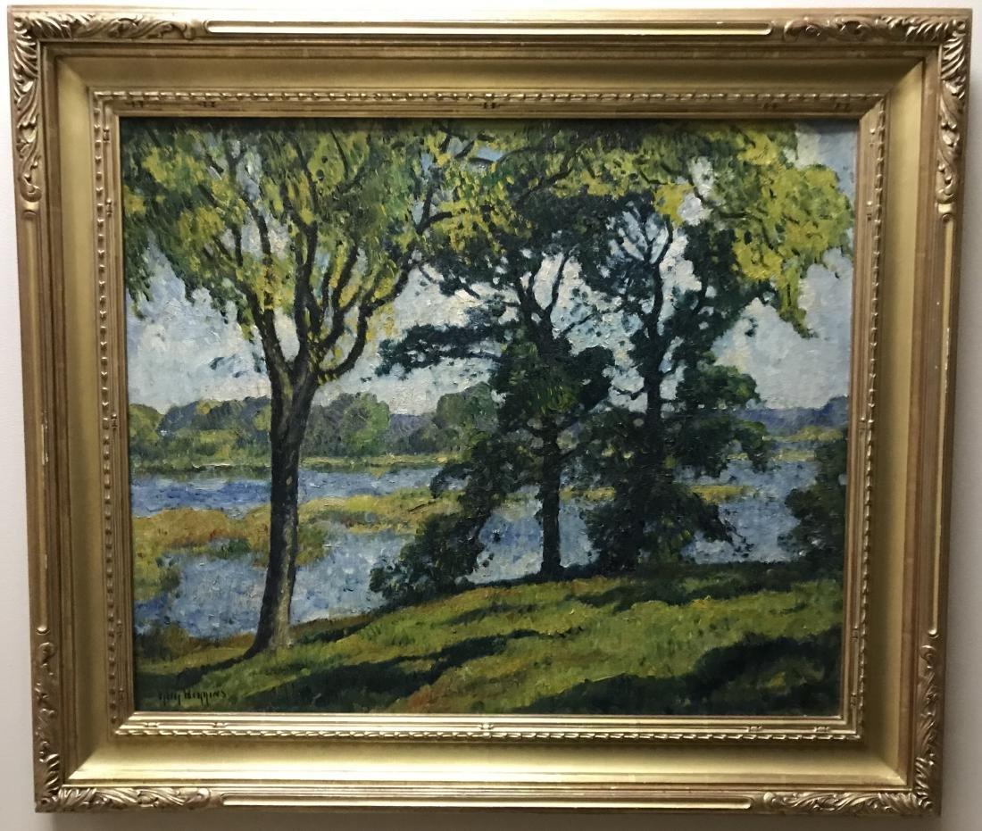 Guy C Wiggins - Landscape Oil Painting on Canvas