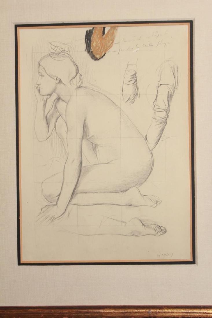 Edgar Degas Framed Engraving of a Nude - 2