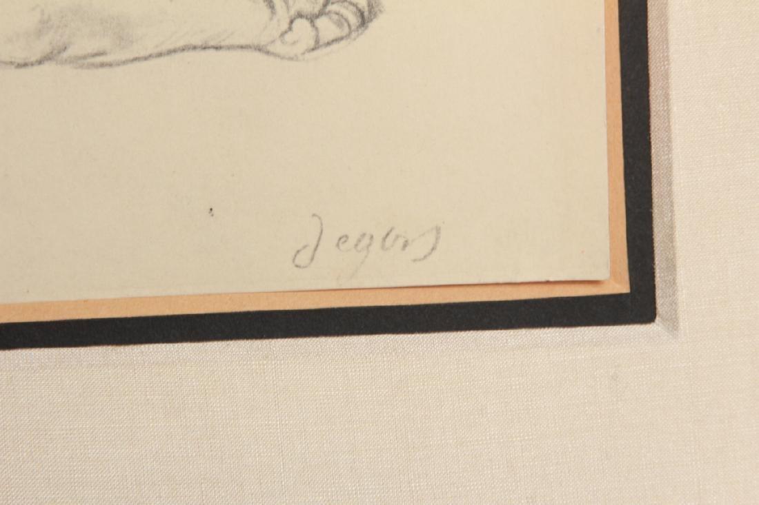 Edgar Degas Framed Engraving of a Nude - 5
