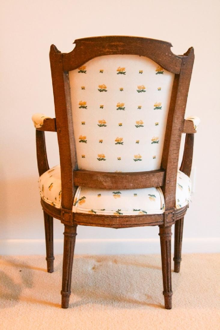 Pair French Bergere Louis XV Chairs - 3