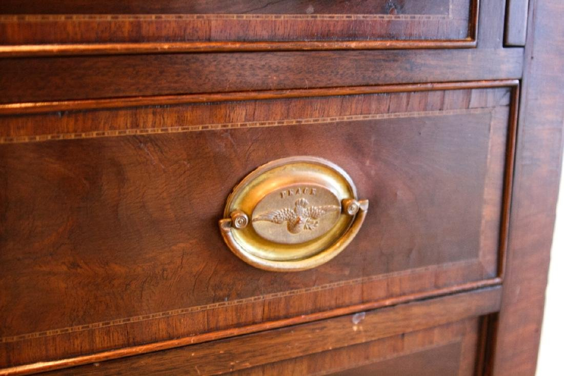 English Chippendale Glass Front Secretary - 2