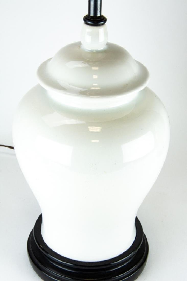 3 Vintage Vase and Ginger Jar Form Lamps on Bases - 7