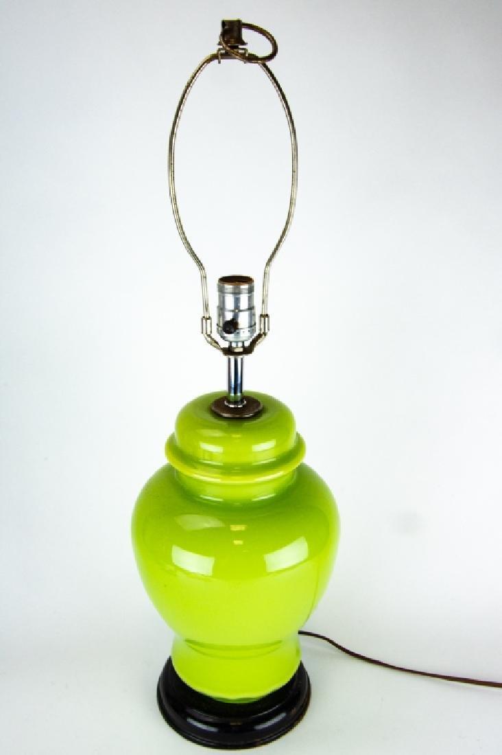 3 Vintage Vase and Ginger Jar Form Lamps on Bases - 8