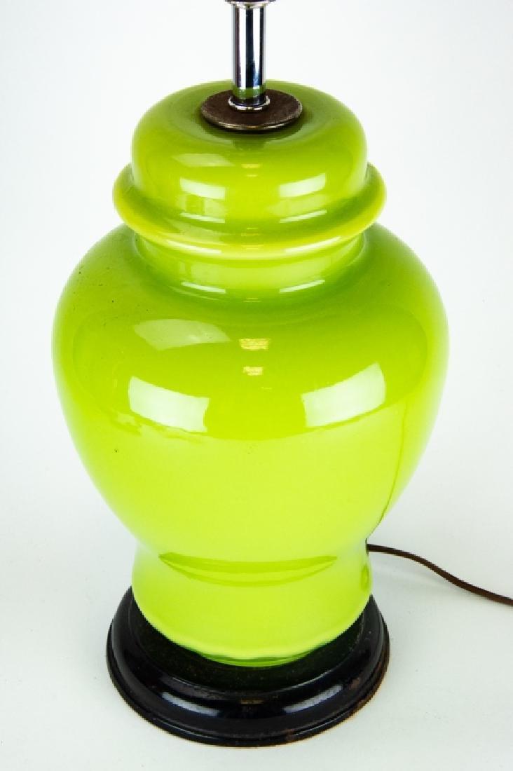 3 Vintage Vase and Ginger Jar Form Lamps on Bases - 9