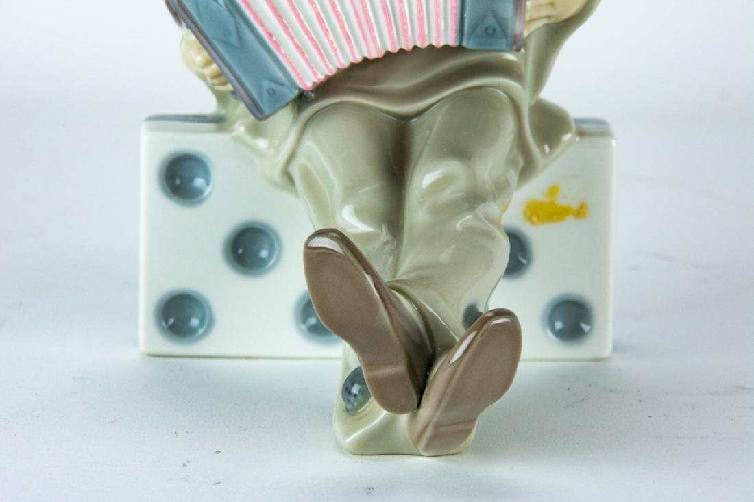 Lladro Porcelain Clown on Domino Figurine - 2