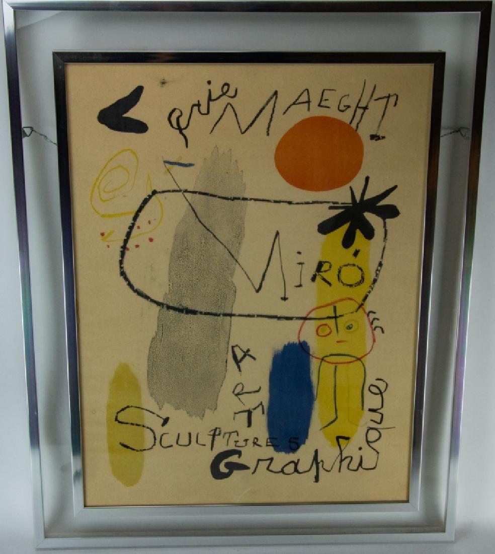 Mid Century Framed Joan Miro Print