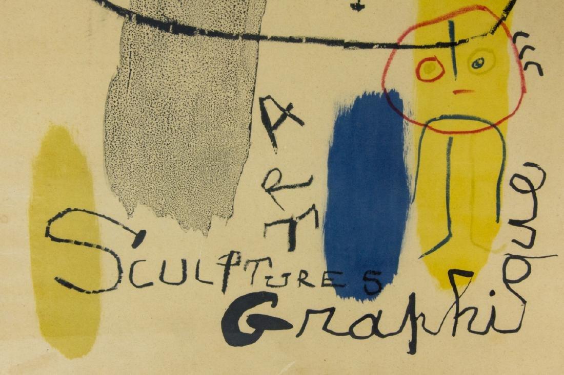 Mid Century Framed Joan Miro Print - 5