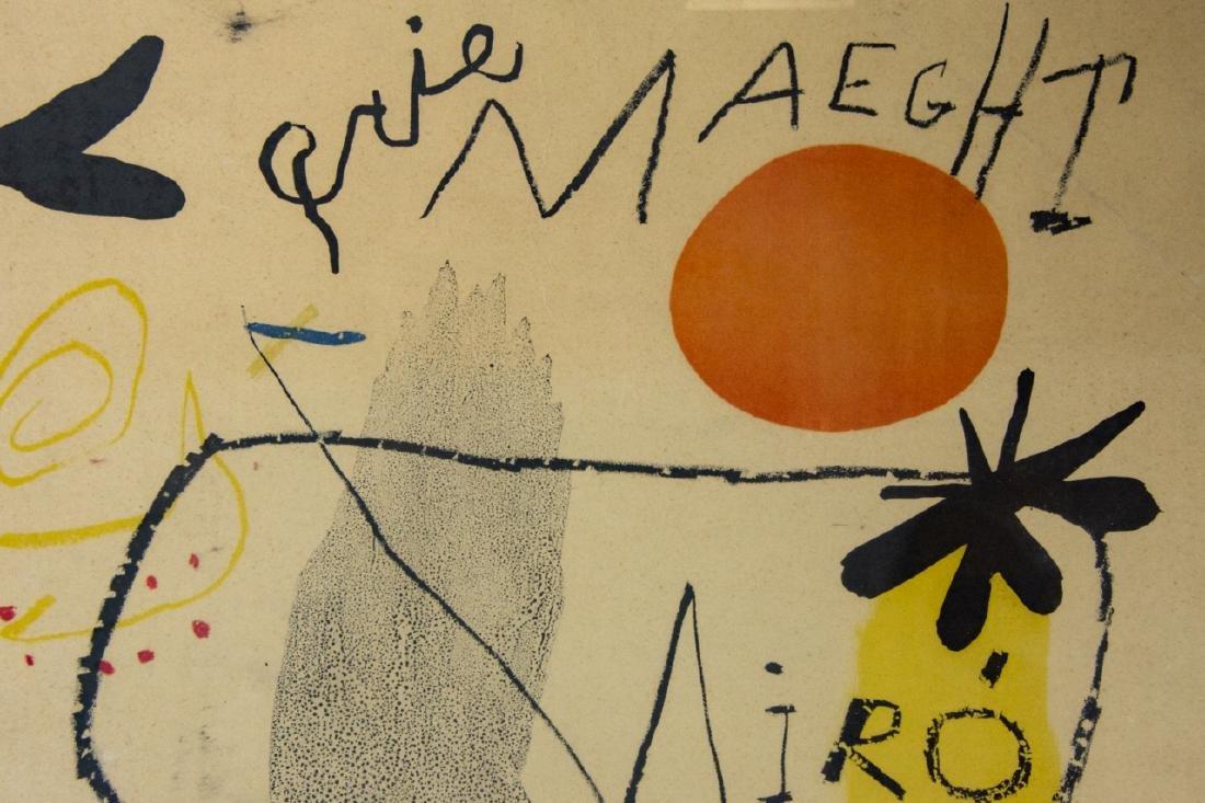 Mid Century Framed Joan Miro Print - 6