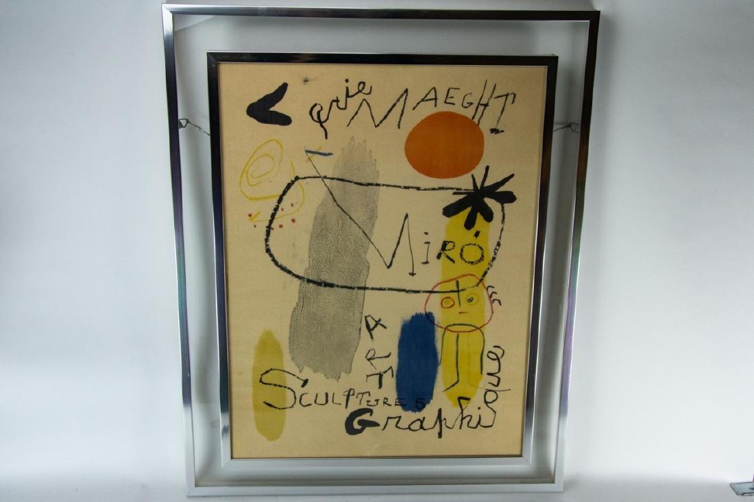 Mid Century Framed Joan Miro Print - 8