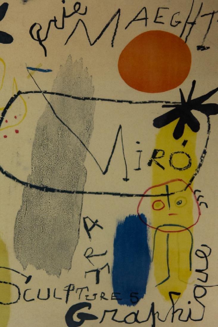 Mid Century Framed Joan Miro Print - 9